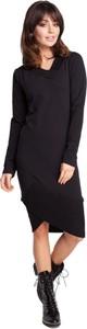 Sukienka BeWear prosta z długim rękawem z dekoltem w kształcie litery v