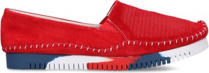 Czerwone półbuty HBH w stylu casual