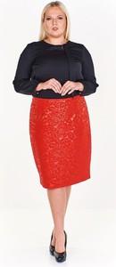 Czerwona spódnica Fokus midi
