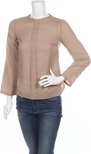 Brązowa bluzka Laura Bettini z długim rękawem z okrągłym dekoltem w stylu casual