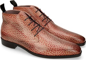 Brązowe buty zimowe Melvin & Hamilton ze skóry sznurowane