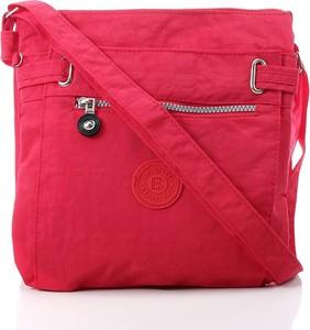 Czerwona torebka Bag Street w stylu glamour duża na ramię