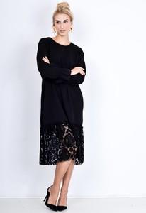 Czarna sukienka Zoio midi