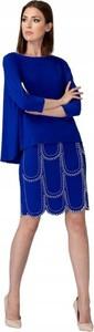 Niebieska sukienka Joseph Ribkoff z długim rękawem