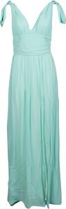 Zielona sukienka Pinko maxi z dekoltem w kształcie litery v
