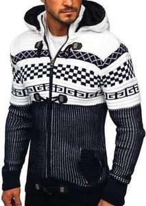 Granatowy sweter Denley w młodzieżowym stylu