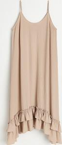 Sukienka Reserved w stylu casual na ramiączkach z tkaniny