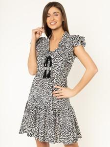 Sukienka Pinko z dekoltem w kształcie litery v z krótkim rękawem mini
