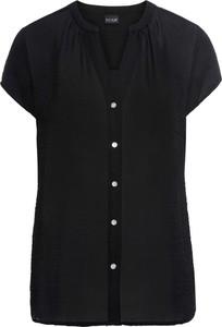 Czarna koszula bonprix BODYFLIRT w kształcie litery v w stylu klasycznym