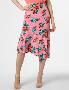 Różowa spódnica Essentiel Antwerp w stylu boho midi