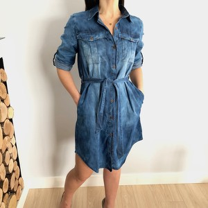dccccf7075 sukienka jeansowa długi rękaw - stylowo i modnie z Allani