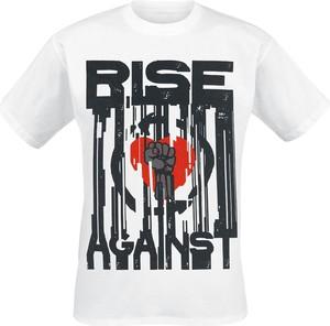 T-shirt Rise Against w młodzieżowym stylu z bawełny
