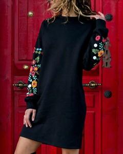 Sukienka Kendallme z okrągłym dekoltem z długim rękawem