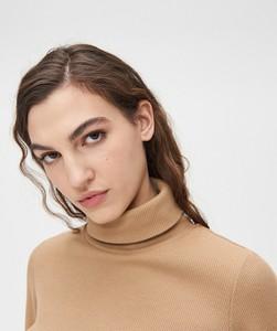 Brązowa bluza Cropp krótka