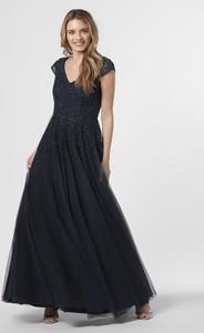 Sukienka Vera Mont Collection z dekoltem w kształcie litery v z krótkim rękawem maxi