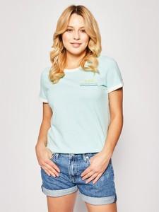 Miętowy t-shirt Lee