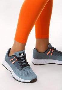 Niebieskie buty sportowe Multu w sportowym stylu z płaską podeszwą