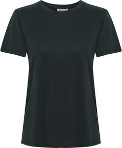 Czarny t-shirt Saint Tropez z krótkim rękawem