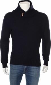 Granatowy sweter Springfield