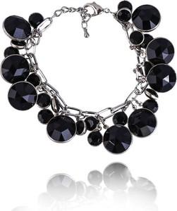 POLSKA Bransoletka z czarnych okrągłych kryształków