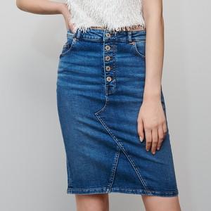 Niebieska spódnica Reserved mini z jeansu