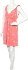 Różowa sukienka Papaya bez rękawów z dekoltem w kształcie litery v mini