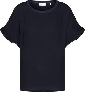 Czarna bluzka Rich & Royal z krótkim rękawem