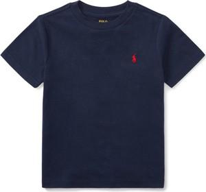 Granatowa koszulka dziecięca POLO RALPH LAUREN z krótkim rękawem dla chłopców