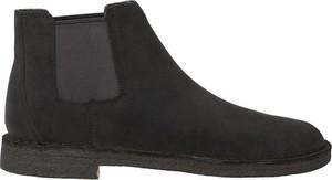 Czarne buty zimowe Clarks ze skóry