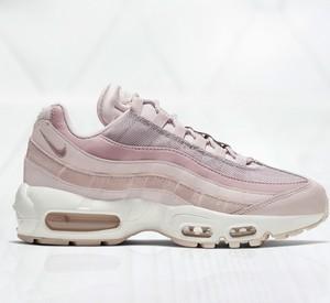 Różowe buty sportowe Nike air max 95 sznurowane