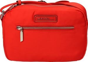 Czerwona torebka Calvin Klein matowa mała