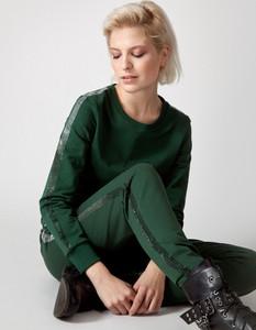 Zielone spodnie Molton z bawełny