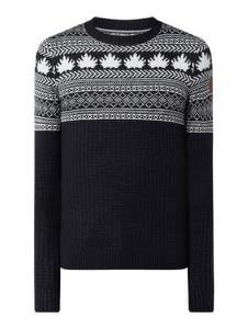 Granatowy sweter Tom Tailor z bawełny w młodzieżowym stylu