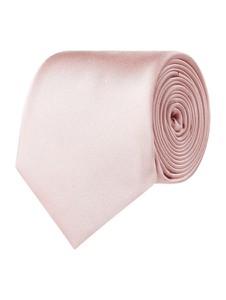Różowy krawat Montego z jedwabiu