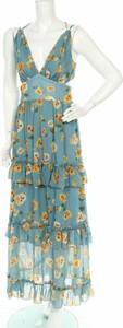 Sukienka Denny Rose maxi z dekoltem w kształcie litery v