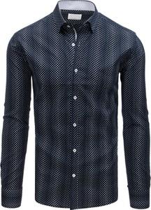 Niebieska koszula Dstreet z długim rękawem z bawełny z kołnierzykiem button down