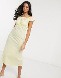 Żółta sukienka Asos midi