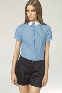 Niebieska koszula Nife z bawełny