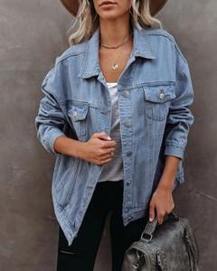Kurtka Kendallme z jeansu krótka