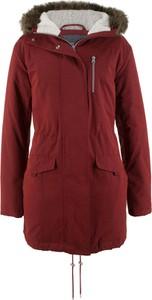 Czerwona kurtka bonprix bpc bonprix collection bez wzorów