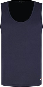 Granatowa koszulka Tommy Hilfiger w stylu casual