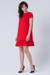 Czerwona sukienka butik-choice.pl midi