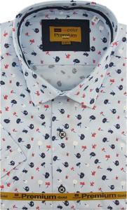 Koszula Redpolo z tkaniny z krótkim rękawem