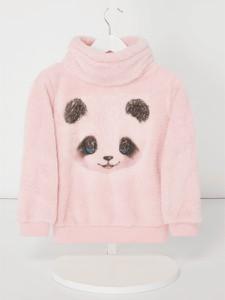 Różowy sweter Review For Kids z dzianiny