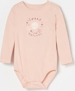 Różowe body niemowlęce Reserved dla dziewczynek
