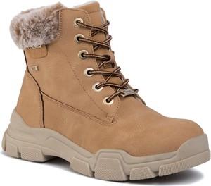 Brązowe buty trekkingowe Tom Tailor sznurowane