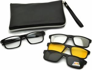 Stylion Oprawki okulary zerówki w zestawie z trzema nakładkami na magnes TR2256