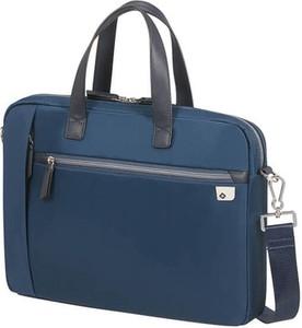 Niebieska torebka Samsonite matowa duża do ręki