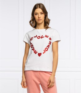 T-shirt Love Moschino w młodzieżowym stylu z krótkim rękawem