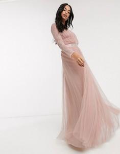 Sukienka Asos Design z tiulu maxi